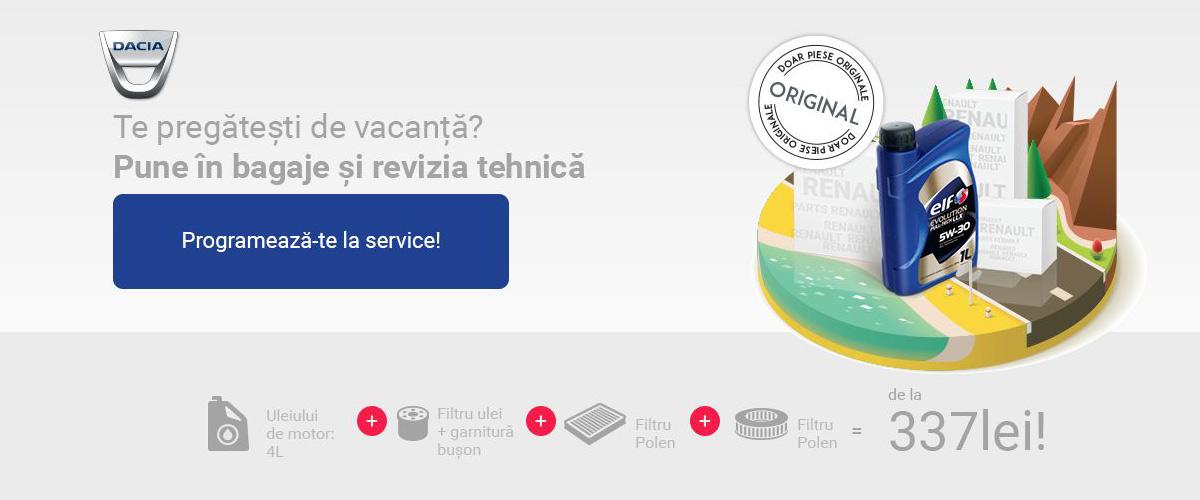 Campanie revizii vacanta Dacia